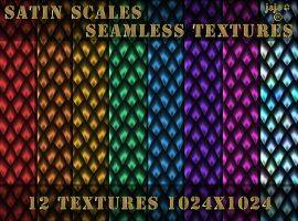 Satin scales seamless textures by jojo-ojoj