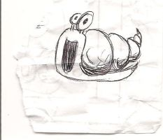 snail doodle by thewatersculptuer
