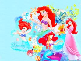 Disney Collage: The Little Mermaid by BreeBeeDesigns