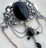 Black Gothic Choker by Aranwen