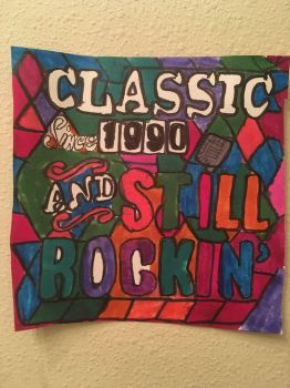 ClassicSince1990AndStillRockinArtColorful Draw by NWeezyBlueStars23
