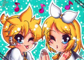 Len and Rin ACEO Card by LuckyAngelausMexx