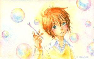 Soap bubbles by tamisan-mio