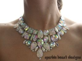 Glitter Rhinestone Statement Necklace by Natalie526