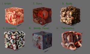 Material Study Halloween by Sh3ikha