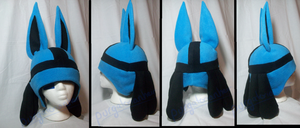 Pokemon Fleece Hat: Lucario by PurgatorianHeir