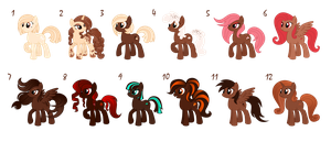 CHOCOLATE ponies adoption by Chimajra