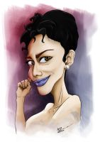 Halle Berry Caricature by MaNkIbOwN