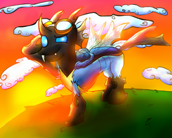 MLP - A Changeling in the Wonderbolts by UltraTheHedgetoaster