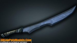 Sword #8 3D Low Poly | 3DLowPolyModels.Com by 3dlowpolymodels