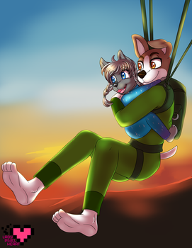 Father's Day Commission for Phallen by ladypixelheart