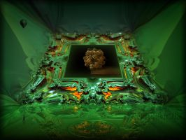 Fractalic Mystical Container for a Basket of Bread by MANDELWERK