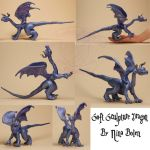 Blue Dragon Soft Sculpture by The-GoblinQueen