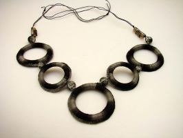 Black + Grey Crochet Necklace by M2Grzegorczyk