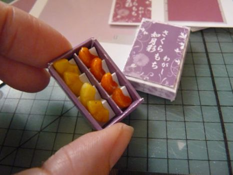 Wagashi Box with Fruit Candy by nyann