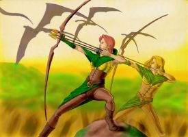 Elven Archers by slavewagestudios