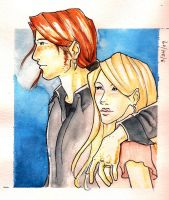 Bill and Fleur: Watercolor by The-Starhorse