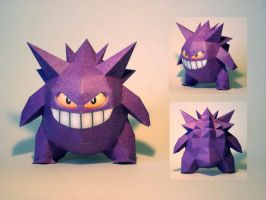 Gengar PokeDoll Papercraft by Skele-kitty