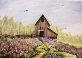 ACEO Valley Barn by annieoakley64