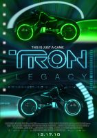 Tron Legacy Fan Poster by Alecx8