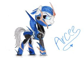 Arcee from Transformers: Prime as a pony by SpeedFeather