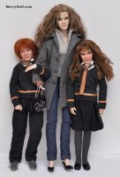 Hermione, Rose and Hugo by mary-vassilieva