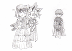 Chibi Henry, Elizabeth and him by Inakunaru-Yagi