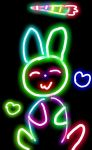 Happy Bunny Doodle by TheXFilesLover