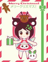 Xmas Twin Red Card 2013 ::GIFT:: by Itachi-Roxas