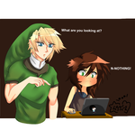Link and Me by naughtyfudge