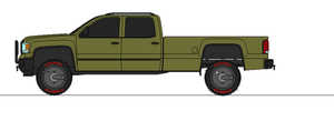 2014 GM Defense 4500 HD crew cab long bed by airsoftfarmer