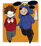 COMMISSION - Yandere!Craig and Clyde by bath-salt