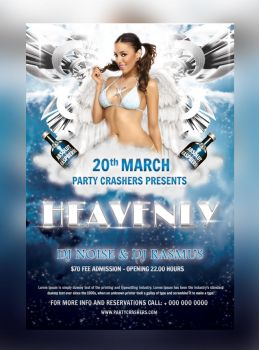 Heavenly Party Flyer (Free Release) by hawkmax