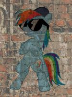 Rainbow Dash graffiti by snakeman1992