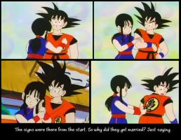 Goku and Chi Chi by Teage-Dunsten