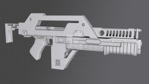 M41A Pulse Rifle by DemonLordHakubi