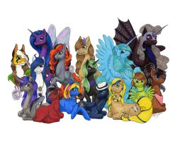 My Little Pony Drawing Group August Banner 2014 by Khimera
