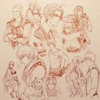 Hetalia Sketch Dump by CarrotCakeBandit
