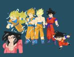 Goku's Evolution by fullmetaljuzz