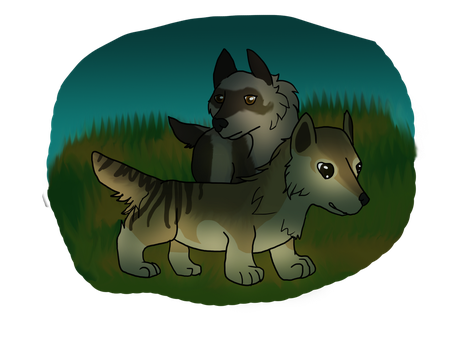 Cati and Vanilla JE earthdog title by Serenade-Thirdhand