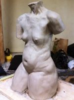 Torso study in clay by Trevc58