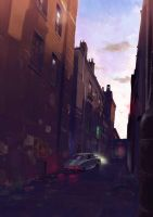 Street by Sunset by Arunomushi