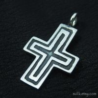 Silver medieval cross by Sulislaw