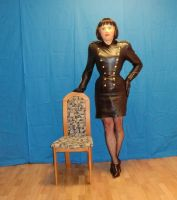 Tight leather dress by Rubberdollyxx