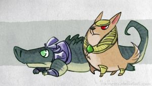 League of Legends Nasus and Rene by inkinesss