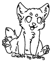 chibi lineart by neon-wolf-fun