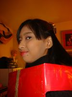 Me in red Christmas gift box costume 5 by Magic-Kristina-KW