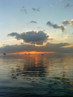 Sunset at Manila Bay by knaofelismino