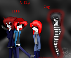 Zigzag Life Cover by CaffeineCoated