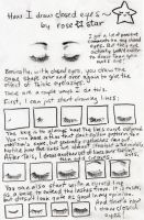How I Draw Closed Eyes by rose-star